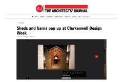 Sheds and barns pop up at Clerkenwell Design Week